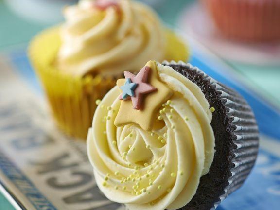 Chocolate Muffins with Lemon Buttercream