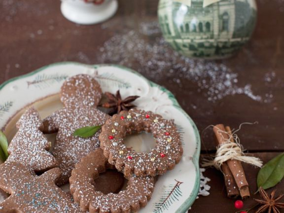 Chocolate Nut Cut-out Cookies
