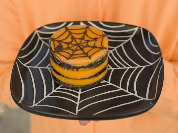 Chocolate Orange Spiderweb Cake