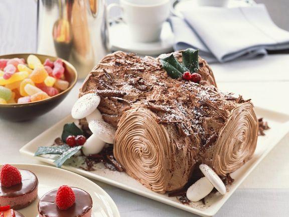 Festive Log Cake
