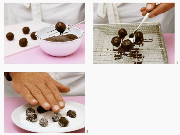 Chocolate Truffles with Sugar Sprinkles