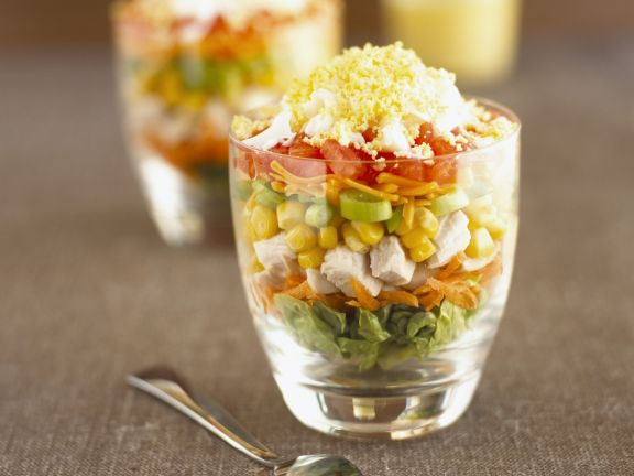 Chopped Veggie and Turkey Cups