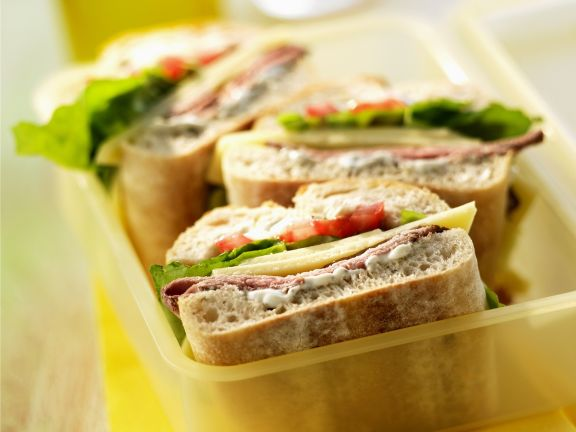 Ciabatta Sandwich with Roast Beef