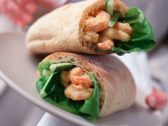 Ciabatta with Shrimp Salad Filling