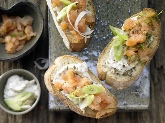 Ciabatta with Smoked Salmon