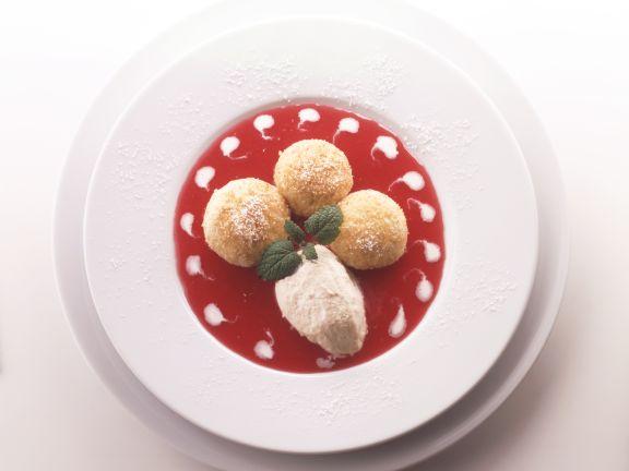 Cinnamon Parfait with Dumplings