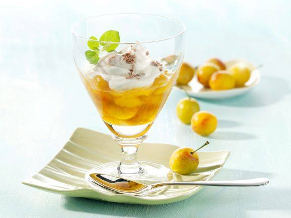 Cinnamon Quark with Mirabelle Plums