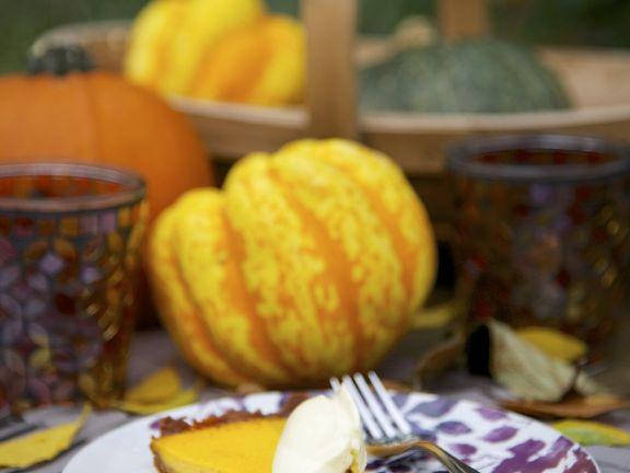 Classic Pumpkin Pie with Cream