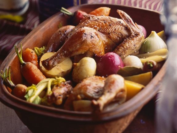 Clay Pot Chicken with Vegetables