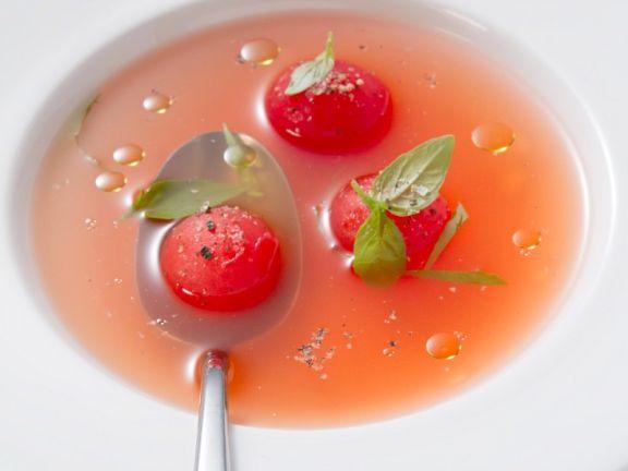 Clear Tomato Soup (Consommé)