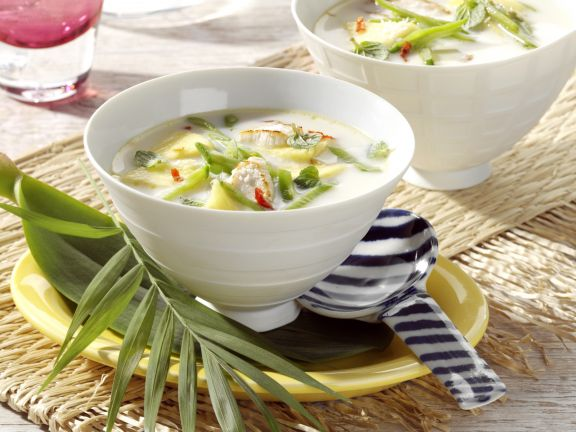 Coconut Chicken Soup with Pineapple
