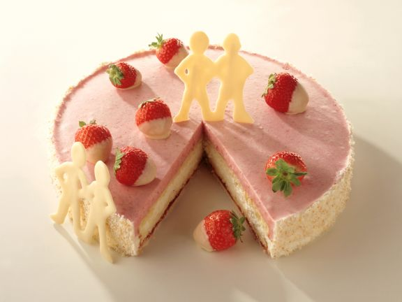 Coconut Strawberry Torte