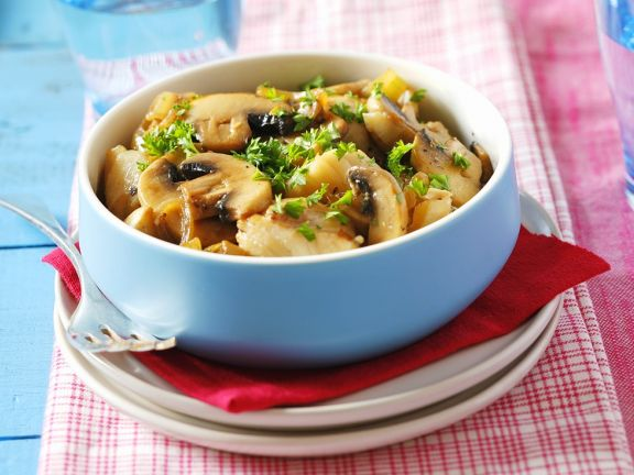 Cod with Mushrooms and Soy Sauce