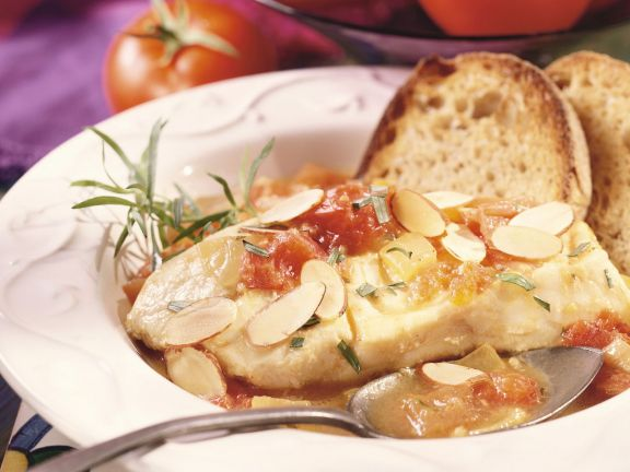 Cod with Tomato and Almonds