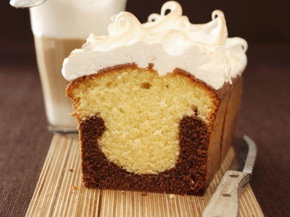 Coffee and Chocolate Marble Meringue Cake