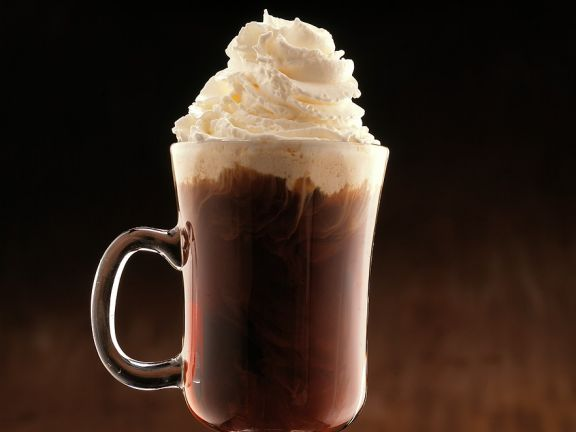 Coffee with Liqueur and Whipped Cream