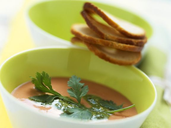 Cold Tomato and Chickpea Soup