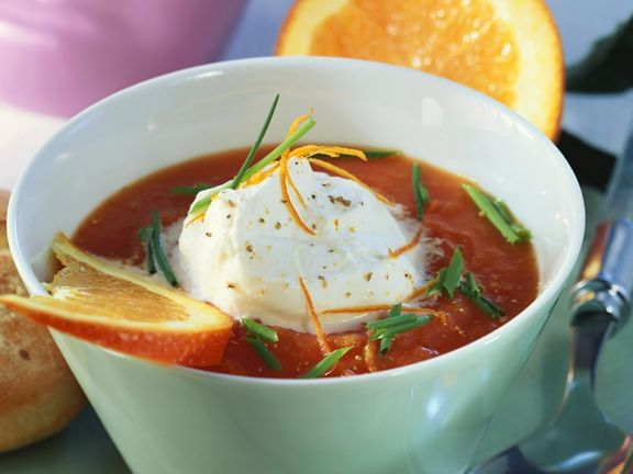 Cold Tomato Orange Soup