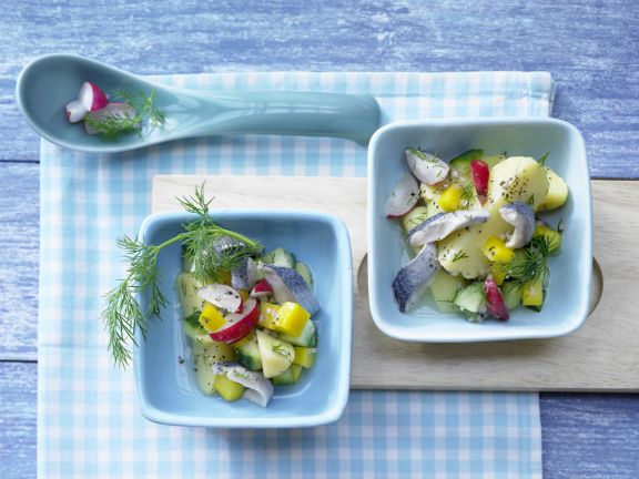 Colorful Potato-Herring Salad