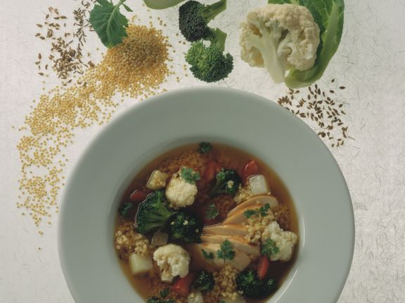 Colorful Vegetable Soup with Millet