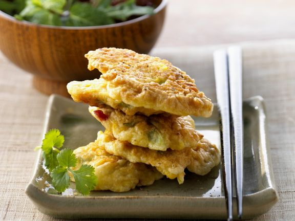 Corn Fritters with Salad