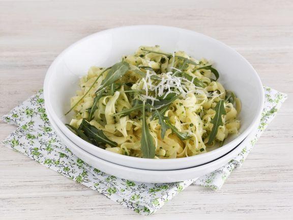 Corn Pasta with Arugula