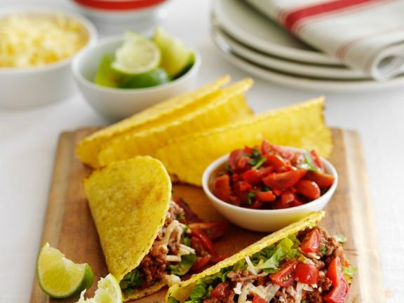 Corn Tacos with Beef Filling