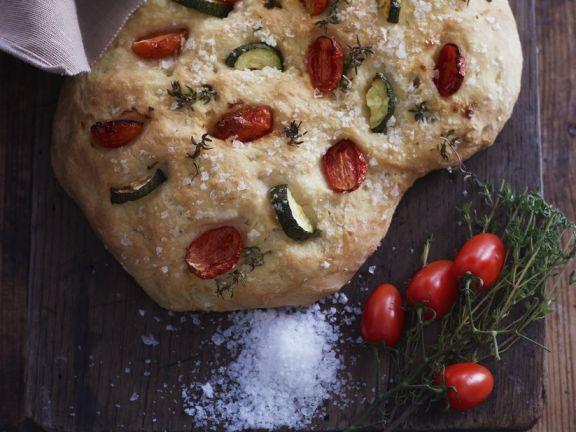 Courgette and Tomato Focaccia