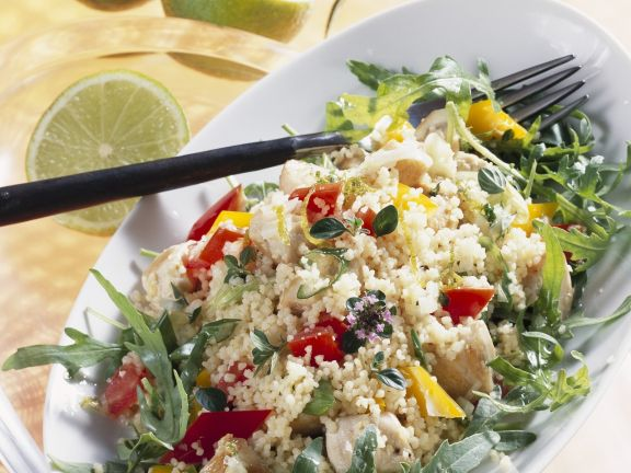 Couscous Salad with Chicken and Arugula