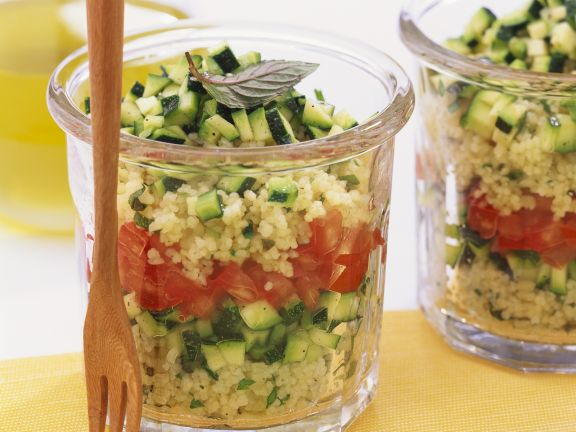 Couscous Salad with Tomato and Zucchini