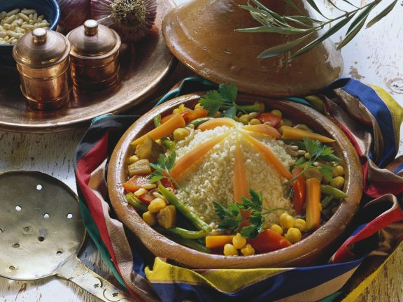 Couscous, Carrot and Chickpea Tagine