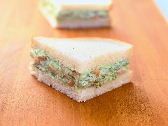 Crab and Avocado Salad Sandwich