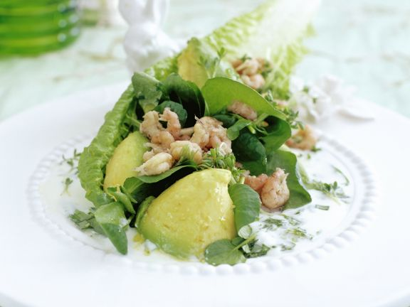 Crab and Avocado Salad with Cress Dressing