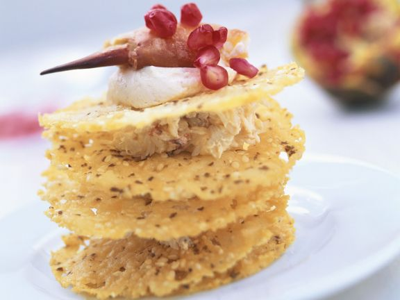 Crab Meat Cream Cheese and Parmesan Crackers