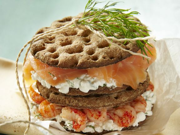 Smoked Fish and Soft Cheese Stacks