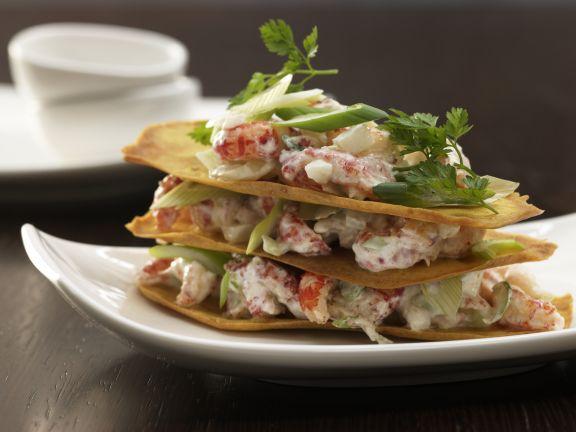 Crayfish Salad Stack