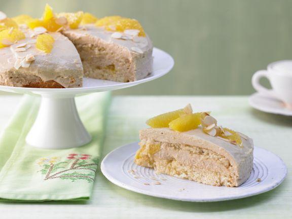 Cream Cake with Caramel