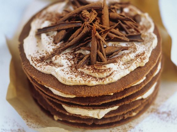 Chocolate and Marzipan Stack