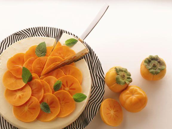 Cream Torte with Sharon Fruit Persimmons