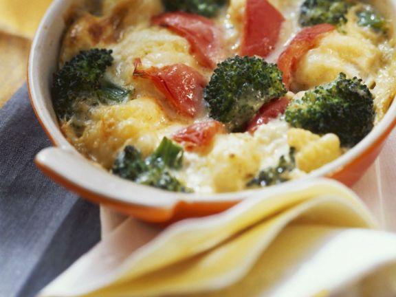 Creamy Broccoli & Cauliflower Cheese Stew