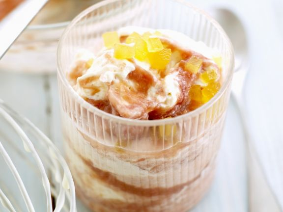 Creamy Fruit Pudding Cup