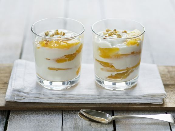Creamy Fruit Pudding with Nuts