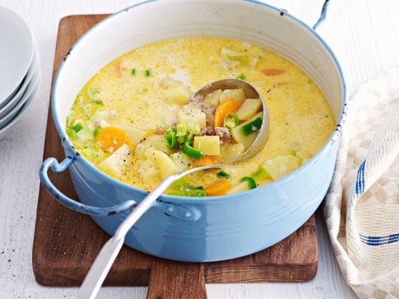 Creamy Potato and Meat Soup