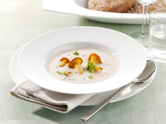 Creamy Potato Soup with Chanterelles