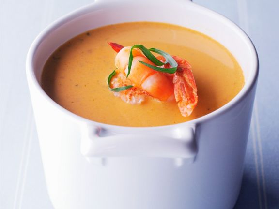 Creamy Shrimp Soup with Pernod