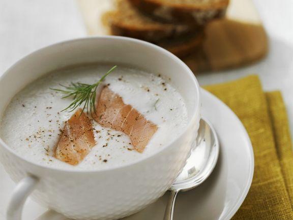 Creamy Smoked Salmon and Potato Soup
