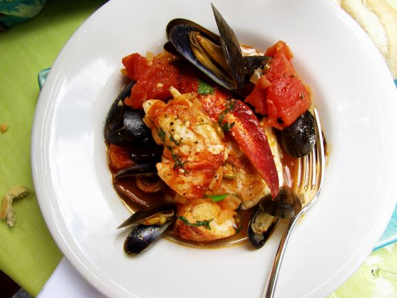 Creole Style Shellfish Stew with Lobster and Tomatoes