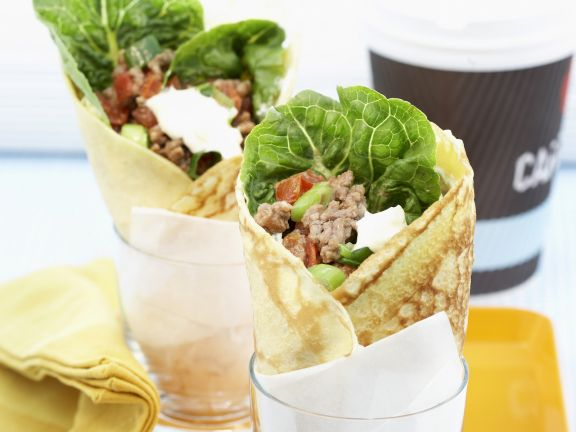 Crepes with Ground Meat Filling