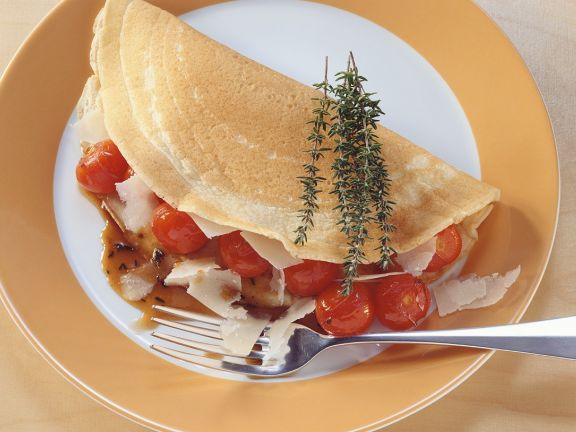 Crepes with Tomato and Parmesan Filling