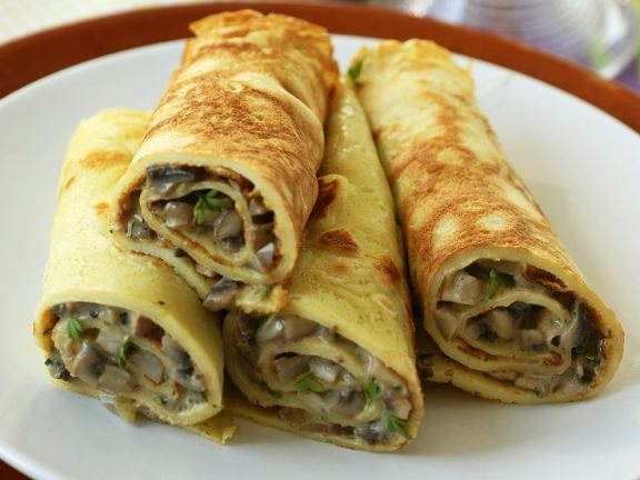 Cress and Cream Cheese-Filled Crepes